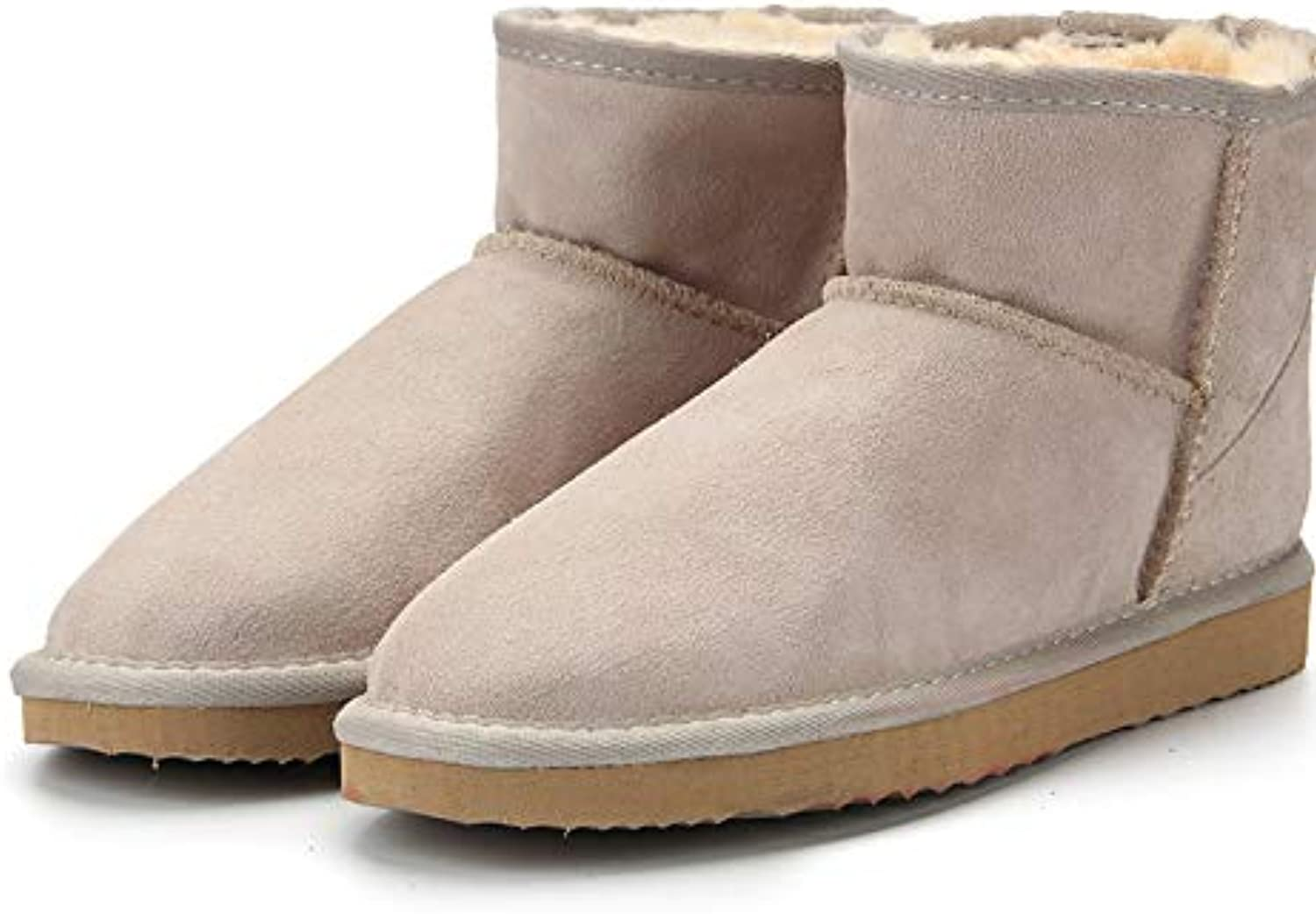 Fumak Genuine Leather Australia Classic 100% Wool Snow Boots Women Boots Warm Winter shoes for Women US 3-13