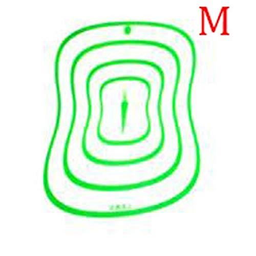 Accessoires de Cuisine Planche à découper en Plastique de qualité Alimentaire Transparent Planches à découper antidérapantes pour Viande Outil de Coupe de légumes - Vert M