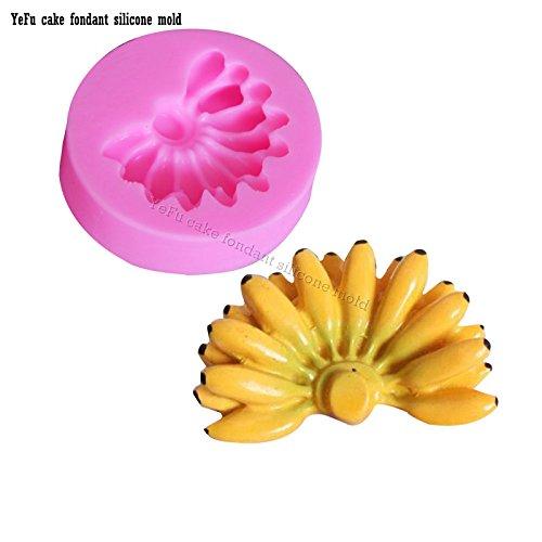 Neutral Banane Praline Jello 3D Silikonseife Form Kuchen Werkzeuge Sugarcraft Form Küche Backzubehör F0877