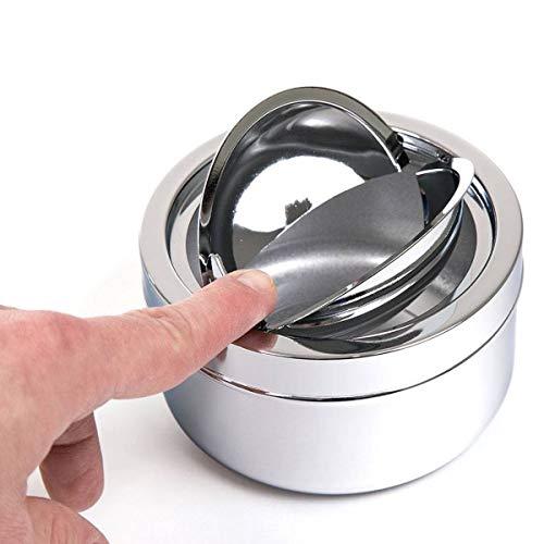 SanTech - Vaso plegable (metal, 11,3 cm de diámetro), color cromado