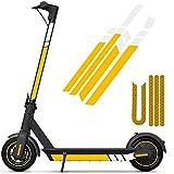 SGMY Pegatina reflectante impermeable para patinete Xiaomi Mijia, M365, E-Scooter y Ninebot Es1/Es2/Es4, accesorios para scooter eléctrico, Amarillo amarillo blanco