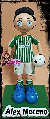 Muñeco fofucha personalizada Real Betis Alex Moreno 26 cms. fútbol liga