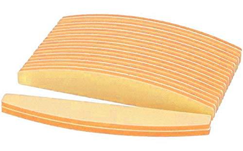 PROFICO 10 Stück Profi Nagelpuffer | Buffer Halbmond 240/320 | Trapez Doppelseitge Buffer Feile | Nagelfeile Schmirgel Boards | Feine Körnung | für natürliche Nägel Gel Nägel (Orange)