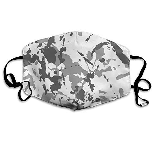 Houity stofdicht wasbaar, camouflage grijs naadloos patroon met knippen, zacht, ademend, wasbaar, knop verstelbaar, geschikt voor mannen en vrouwen