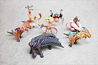 VKISI 6Pcs 3-4Cm No Repeat Hunting Magnetrophy PVC Toy Japanese Monster Hunter Action Figure Doll.Cartoon Anime Airou Cat D11 Thing You Must Have Girls Favourite Characters