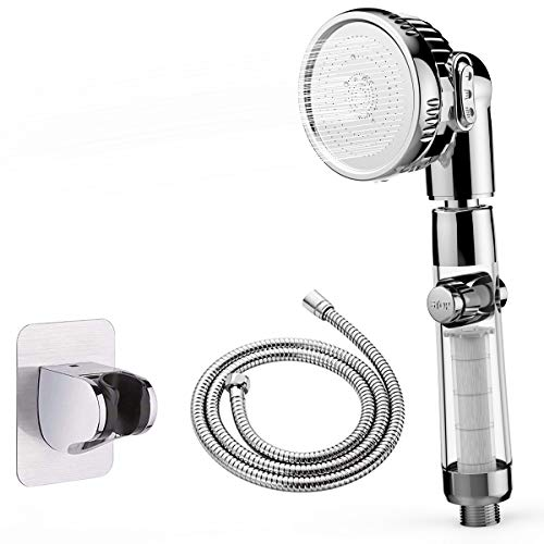 シャワーヘッド シャワーヘッド 節水 シャワーヘッド 高水圧 シャワーヘッド 塩素除去 マイクロバブルシャワーヘッド 節水シャワー ヘッド 工具 柔らかい 高水圧 3段階モード調節 国際汎用基準G1/2 シャワーホース (ホワイト)