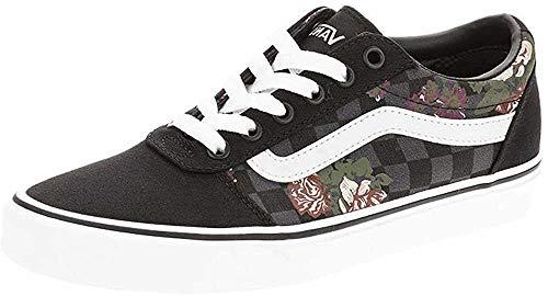 Vans Damen Ward Canvas Sneaker, Blumen Karos Schwarz, 41 EU