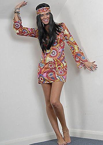 marcas de diseñadores baratos Magic Magic Magic Box Disfraz Hippy de Las señoras 60s Psychadelic Large (UK 16-18)  servicio honesto