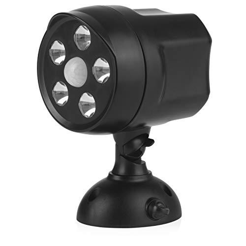EASYmaxx LED-Strahler 360° In- & Outdoor | Bewegungsmelder für innen und außen | superhelles Licht für mehr Sicherheit | 6V [schwarz]
