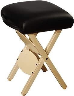 Master Massage Tables Lightweight Wooden Handy Folding Massage Stool, Black