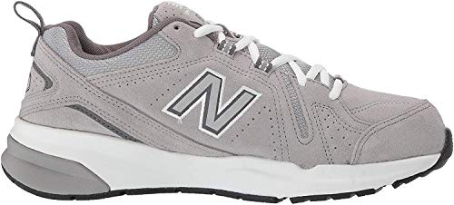 New Balance Men's 608 V5 Casual Comfort Cross Trainer, Grey Suede/Grey Suede, 12 M US
