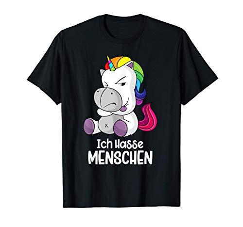 Ich hasse Menschen Einhorn Geschenk Design T-Shirt