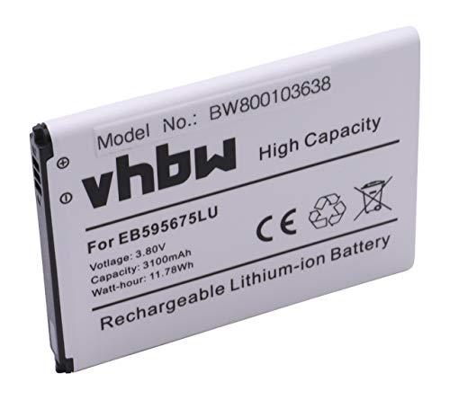 vhbw Li-Ion Akku 3100mAh (3.8V) für Handy, Smartphone, Telefon Samsung Galaxy Note 2, GT-N7100, GT-N7105, GT-N7105T, GT-N7108, Sailor wie EB595675LU.