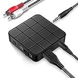 TINICR Ricevitore Trasmettitore Bluetooth 5.0, Trasmettitore/Ricevitore Wireless 2 in 1, Adattatore Audio Stereo Bluetooth con Aux 3,5 mm per TV, Laptop, Sistema Stereo, Cuffie, altoparlanti, MP3/MP4