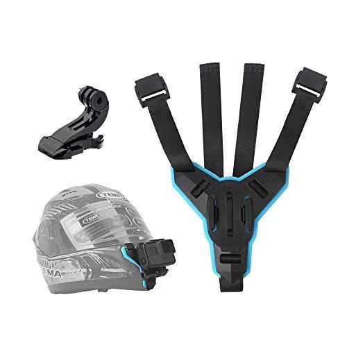 TELESIN - Supporto per videocamera con montaggio anteriore per casco da moto con mento curvo, per GoPro Hero 2018/6/5/4/3, Session, Sjcam, Akaso, Campark, Polaroid, Osmo Action, YI Action Camera