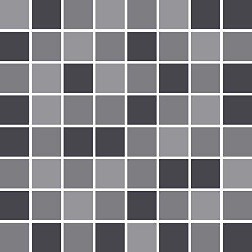 PrintYourHome Fliesenaufkleber für Küche und Bad | Mosaik graue Katze glänzend | Fliesenfolie für 15x15cm Fliesen | 14 Stück | Klebefliesen günstig in 1A Qualität