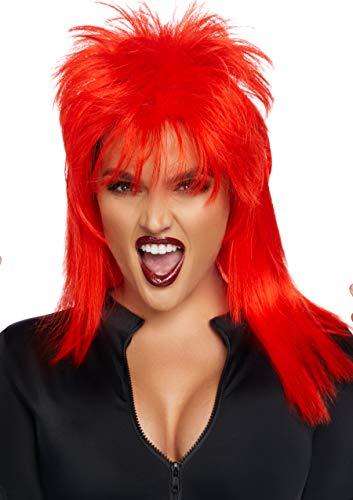 Leg Avenue Women's Unisex Rockstar Wig, Red, One Size