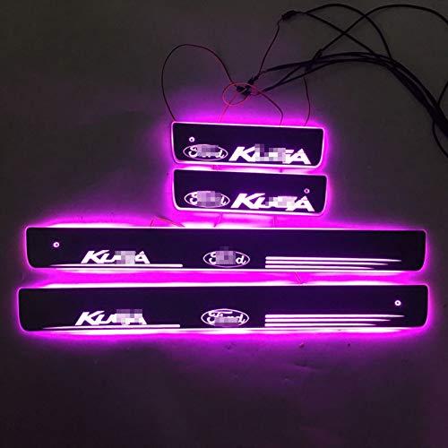 Deur Dynamische LED Lamp Dorpel Dorpel Welkom Pedaal Auto Styling Twinkle dorpels verlichting, VOOR Ford Kuga