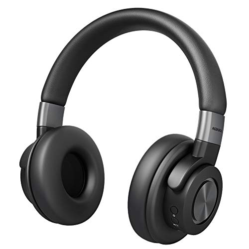 HAUSPROFI Bluetooth Headphones Over Ear, 50 Hrs Playtime Wireless Hi-Fi Stereo Headset with Mic, Lightweight Headphones with Soft Memory Protein Earmuffs for Home Office Online Class Cellphone PC TV