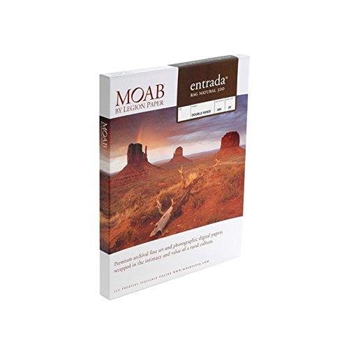 Moab Entrada Rag Natural 300g ERN300A225 printpapier katoen A2 dubbelzijdig 25 vellen
