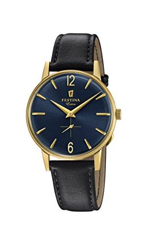 Festina Herren Analog Quarz Uhr mit Leder Armband F20249/4