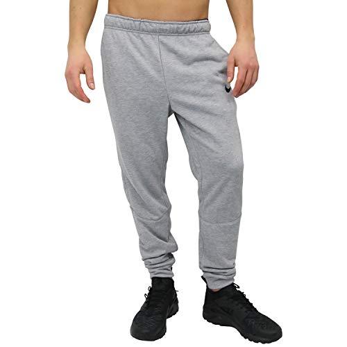 Nike Män träningsbyxor M Nk Dry Taper fleece Grå (mörkgrå ljung/svart) L