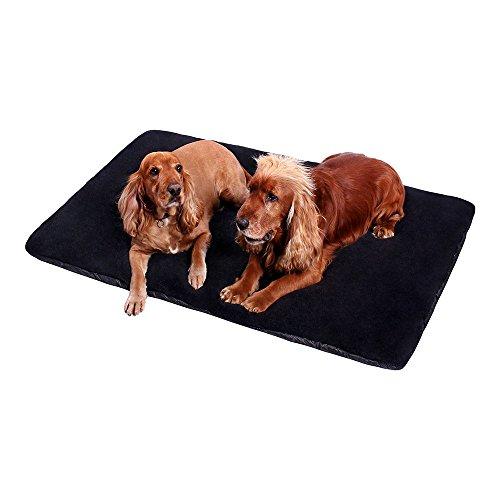 ANIMALY LAMA Haustiermatte, Hundematte, Katzenmatte, Hundebett, Schlafplatz für Hunde und Katzen, vielseitige Liegematte für kleine Vierbeiner, Farbe:Black, Größe:XL - 130 x 90 cm