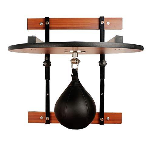 El Boxeo Se Divierte Grueso De Caoba Bolsa De Boxeo Colgantes Speedball Plataforma De Formación Resistencia (Color : Brown, Size : 60x60x3cm)
