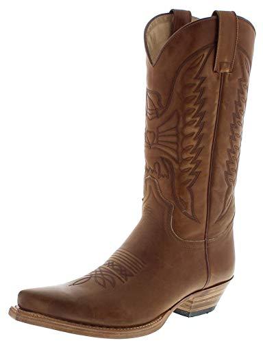 Sendra Boots Damen Herren Cowboy Stiefel 2073 Braun 44 EU