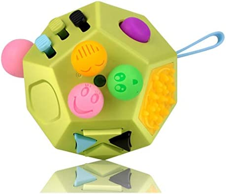 UOOE Fidget Sensory Toy Cube 12 Side Fidget Cube Dice Dodecagon Relief Stress and Anxiety for product image
