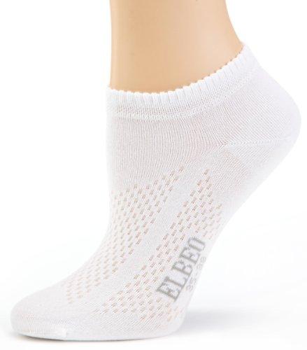 ELBEO Damen Sneaker Breath. W Ba Sneakersöckchen, Weiß (weiß 9600), 39-42 (II)