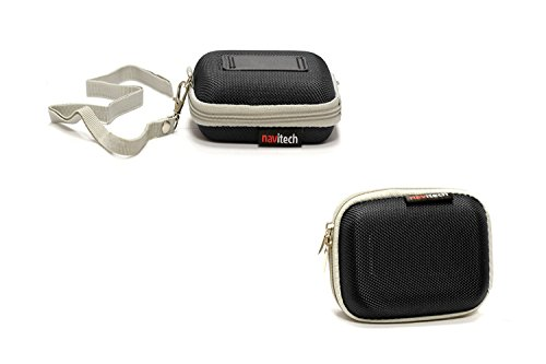 Navitech Noir Cas/Housse pour Langsdom F9 Earpods Headphones