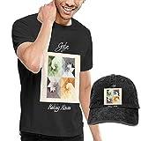 Thimd Camiseta de Manga Corta para Hombre,Gorra de bisbol Combinacin Negro Gotye Making Mirrors Tshirt and Washed Denim Baseball Dad Caps Black