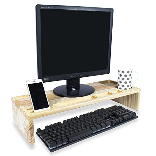 Suporte Mesa Madeira Base Para Notebook Organizador Monitor Para Cama E Mesa Home Office