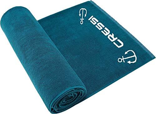 Cressi Cotton Frame Beach Towel Toalla Deportiva, Adultos Unisex, Turchese, 90 x 180 cm