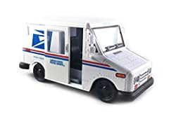 📬 TWO SIDE SLIDING DOORS 📬 REAR SLIDING GATE 📬 PULL BACK ACTION 📬 OFFICIAL USPS LLV LICENSED 📬 1:36 SCALE DIE CAST METAL BODY