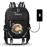 GO2COSY Anime Mon Voisin Totoro Sac à Dos avec Port de Charge USB