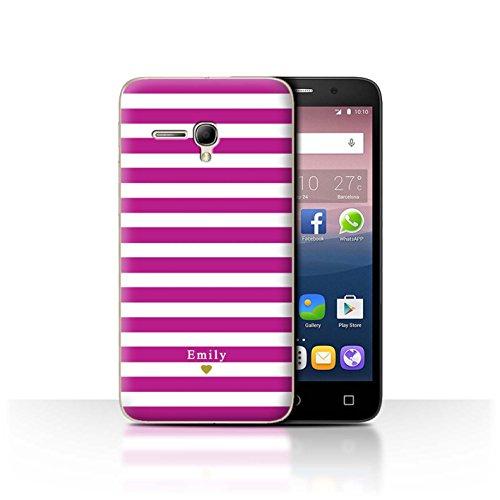 Stuff4Phone Case/Cover/Skin/alcpop355/Custom Stripes/Striped Collection Coeur/Fuchsia Rose