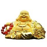 Liutao Estatua de Buda de la decoración de la Resina de galvanoplastia de la Arena de Oro de Buda Maitreya de Coches Decoración Suerte de Coches y joyería Segura