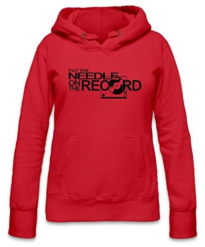 Put The Needle On The Record Womens Hoodie X-Large