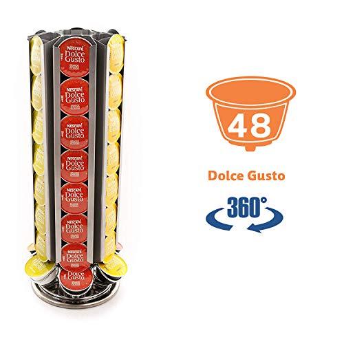 """Peak Coffee Blade Supporto girevole per 48 capsule di caffè """"Dolce Gusto"""", design a lama"""