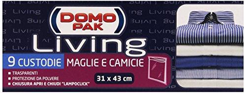 Domopak Living Custodie Maglie e Camicie, 31 x 43 cm - 9 Pezzi