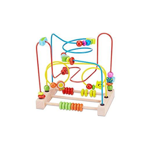 Alapet 0-1-2-3 Jahre Alte Kinder Früherziehung Holzspielzeug Baby Puzzle Runde Perlen Spielzeug Anzahl Lernen Farbe Kognitiv Eltern-Kind-Interaktion Frühkindliche Erziehung Nippes