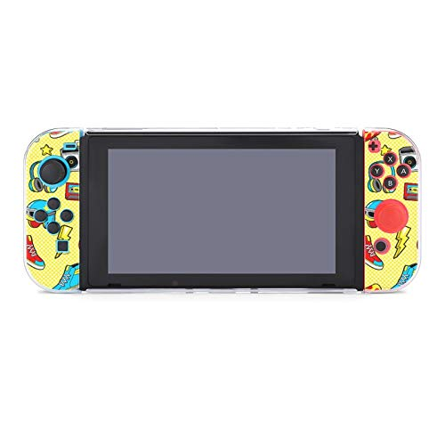 Anti-Scratch PC Schutzhülle für Nintendo Switch Kompatibel mit Switch und Joy-Con Controllern Split 5pcs Slim Game Console Case - Skateboard Helm Mode Stil