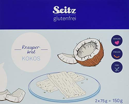 Seitz glutenfrei Kokos Knusperbrot, 4er Pack (4 x 150 g)