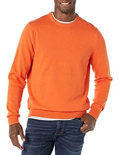 Amazon Essentials Maglione Girocollo, Arancione, XL