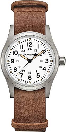 Reloj Hamilton Khaki Field Mecánico Esfera Blanca Correa Piel H69439511