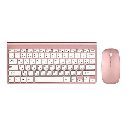 Ys-s Personalización de la Tienda Radio Ultra Delgado Teclado Mouse Combo 2.4G Ratón de Radio para para para para por de Apple Keyboard Style Mac Win XP / 7/8/10 TV Teclado Ruso (Color : KRG MRG)
