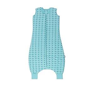 Slumbersac – Saco de dormir con diseño de estrellas para bebé, color verde azulado (para invierno, con pies, 0,5 tog…