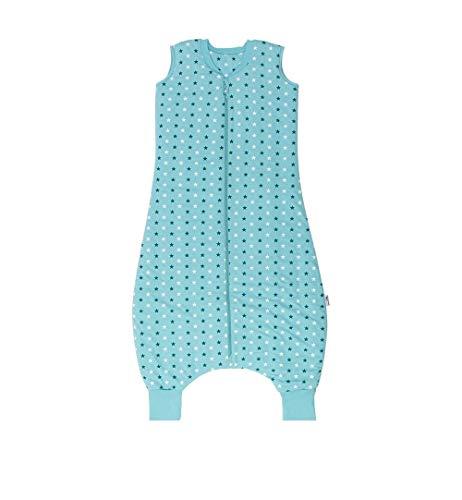 Schlummersack Schlafsack mit Füßen leicht gefüttert für den Sommer in 1.0 Tog - Teal Stars - 130 cm